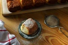 小圆面包甜点酵母 库存照片