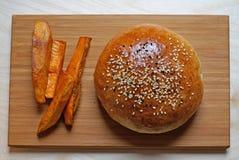 小圆面包用油炸物 免版税库存图片
