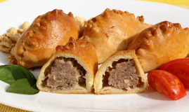 小圆面包用肉 免版税库存图片