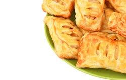 小圆面包用苹果果酱 免版税库存照片