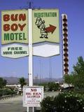 小圆面包男孩汽车旅馆贝克 库存照片