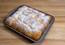 小圆面包的面团 库存照片
