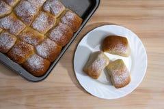 小圆面包的面团 免版税库存图片