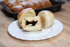小圆面包的面团 免版税库存照片