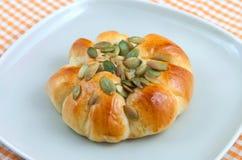 小圆面包种子向日葵 库存图片