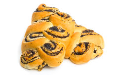 小圆面包罂粟种子 免版税库存照片