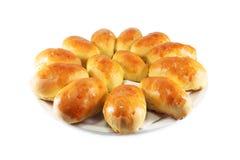 小圆面包自创肉馅饼 图库摄影