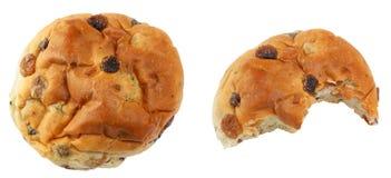 小圆面包葡萄干 免版税库存照片