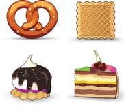 小圆面包蛋糕酥皮点心 皇族释放例证