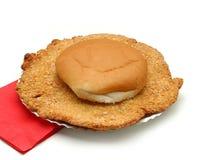 小圆面包衣阿华里脊肉 免版税库存照片