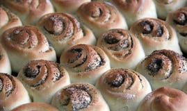 小圆面包食物国家鸦片俄语种子 库存照片