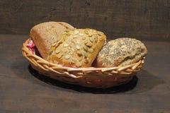 小圆面包,蛋糕,小圆面包的各种各样的类型 图库摄影
