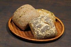 小圆面包,蛋糕,小圆面包的各种各样的类型 库存图片