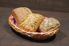 小圆面包,蛋糕,小圆面包的各种各样的类型 库存照片