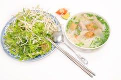 小圆面包cha加州或越南米细面条 免版税库存图片