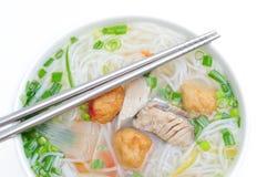 小圆面包cha加州或越南米细面条 库存照片