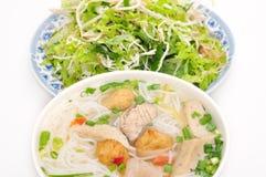 小圆面包cha加州或越南米细面条 图库摄影