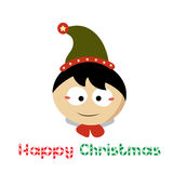 小圣诞老人在Chistmas天 免版税库存照片