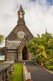 小圣Augustines爱尔兰教会在少女市的墙壁上的大厦伦敦德里在北爱尔兰 免版税库存照片
