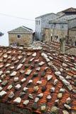 小块东部福建式buiding的屋顶,芹壁村 图库摄影