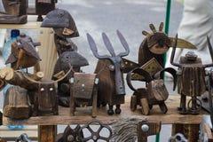 从小块材料的斯拉夫的义卖市场工艺 免版税库存图片