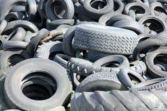 小块轮胎转储 免版税库存照片