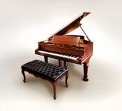 小型三角钢琴 库存照片