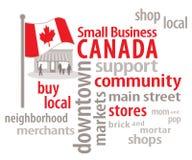 小型企业加拿大字云彩 库存照片