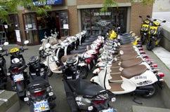 小型摩托车商店 图库摄影