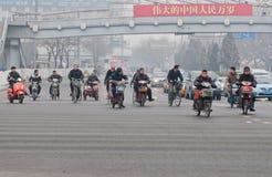 小型摩托车在北京 免版税图库摄影
