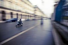 巴黎小型摩托车 免版税库存图片