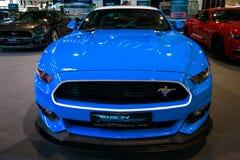 小型车Ford Mustang GT AM2 Fastback小轿车, 2016年 免版税库存图片