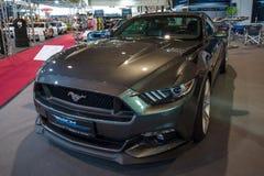 小型车Ford Mustang GT V-8 Fastback小轿车, 2016年 图库摄影