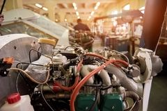 小型飞机引擎 库存图片