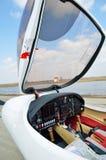 小型飞机的驾驶舱 库存图片