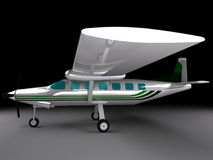 小型飞机, 3d回报 库存图片