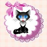 小垫布猫 免版税库存图片