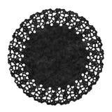 黑小垫布被隔绝在白色 库存图片