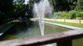 小城市喷泉在公园 影视素材