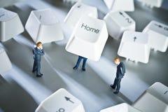 小基于企业的家 免版税图库摄影