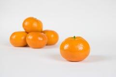 从小堆分离的柑桔隔绝在白色 免版税图库摄影
