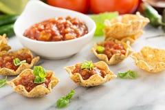 小墨西哥样式开胃菜做用玉米粉薄烙饼滚保龄球 库存照片