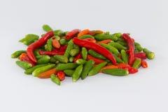 小多个颜色辣椒准备好厨师 免版税库存图片