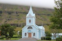 小大教堂在冰岛。 免版税图库摄影