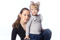 小女儿的母亲 库存照片