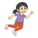 小女孩动画片赛跑 图库摄影
