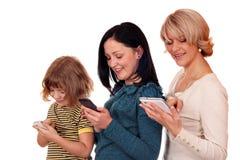 小女孩十几岁的女孩和妇女 免版税库存图片