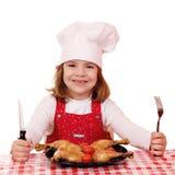 小女孩厨师 免版税库存照片