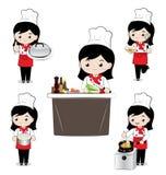 小女孩厨师 免版税库存图片