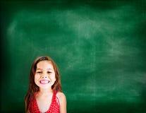 小女孩可爱的美好的快乐的微笑的概念 免版税图库摄影